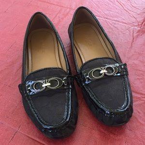 Coach Signature Print/Patent Leather Shoes Size 6B